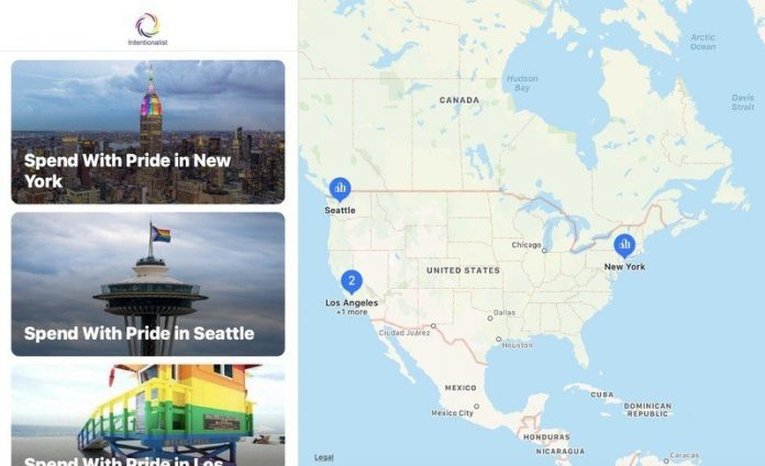 Spend With Pride in Apple Maps.
