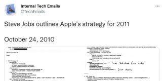 iPhone nano: piano nelle ultime email di Steve Jobs